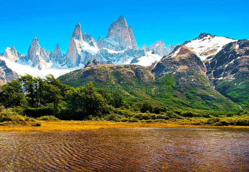 Paesaggio della natura nel Patagonia, Argentina immagine stock