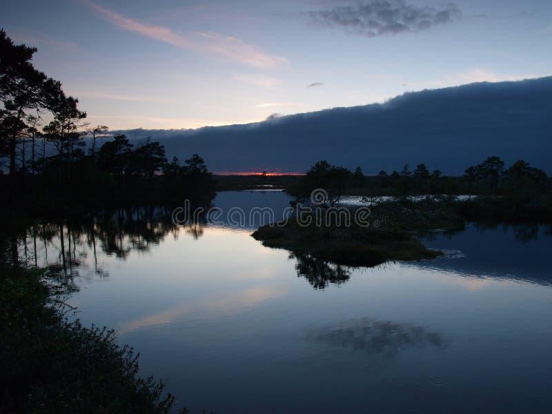 Paesaggio della palude di Marimetsa fotografia stock