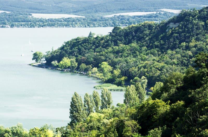 Paesaggio della penisola di Tihany al Balaton fotografia stock libera da diritti