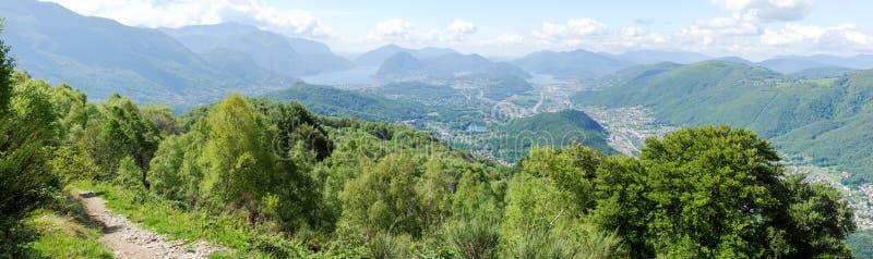 Paesaggio della regione di Lugano immagine stock libera da diritti