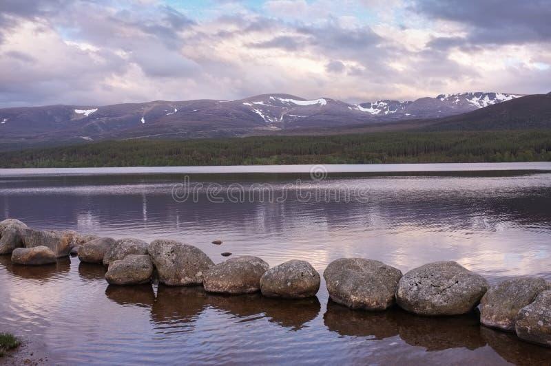 Paesaggio della Scozia, montagne di Cairngorm immagine stock libera da diritti