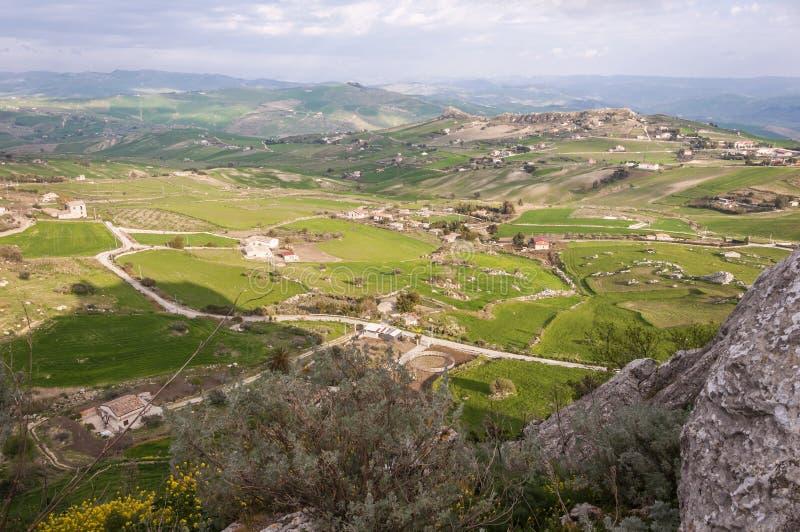 Paesaggio della Sicilia fotografia stock libera da diritti