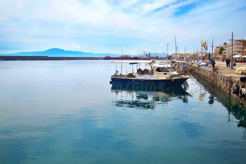 Paesaggio della strada di Navarinou a Kalamata il Peloponneso Grecia immagine stock libera da diritti