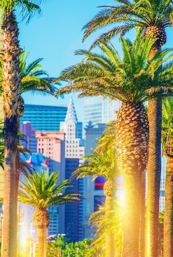 Paesaggio della striscia di Las Vegas fotografia stock