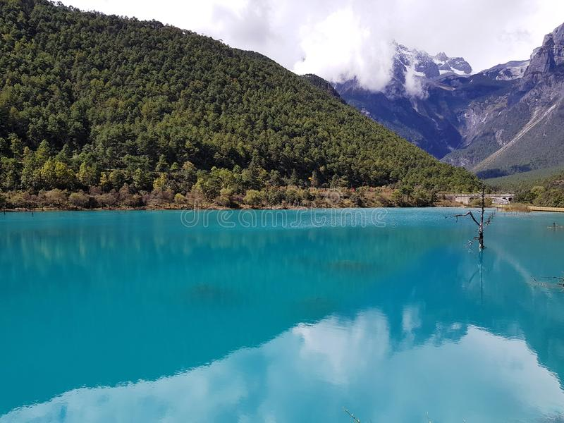 Paesaggio della valle di Blue Moon immagine stock libera da diritti