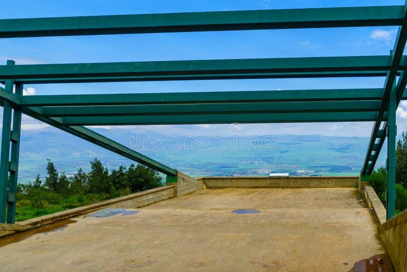 Paesaggio della valle di hula e di Hussein Viewpoint fotografia stock