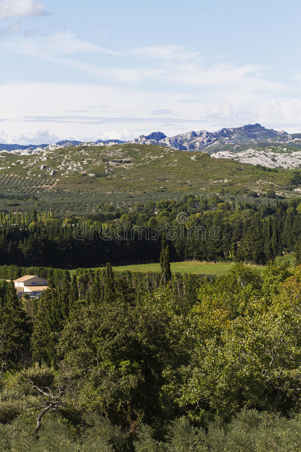 Paesaggio delle alpi francesi fotografie stock