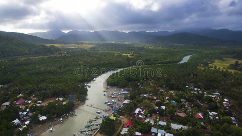 Paesaggio delle foto delle isole filippine fotografie stock