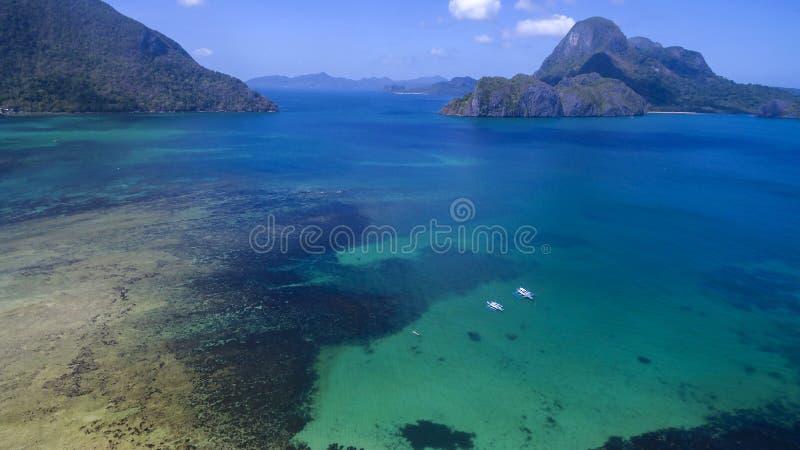 Paesaggio delle foto delle isole filippine immagine stock