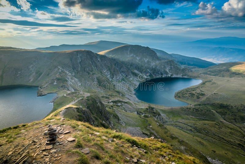 Paesaggio delle montagne della Bulgaria fotografia stock libera da diritti