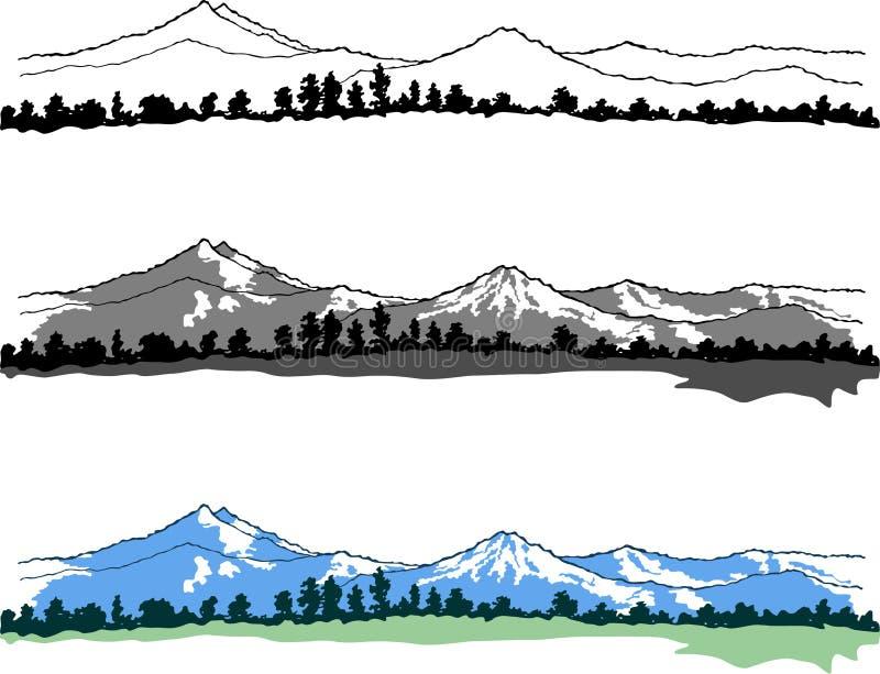 Paesaggio delle montagne di vettore immagine stock libera da diritti