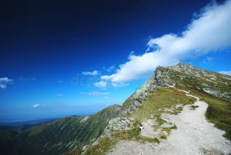 Paesaggio delle montagne in Slovacchia fotografia stock libera da diritti