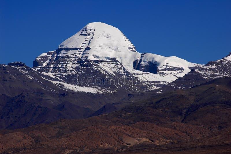 Paesaggio delle montagne snow-capped immagine stock libera da diritti