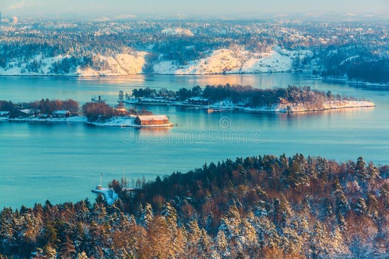 Paesaggio dello scandinavo di inverno fotografia stock