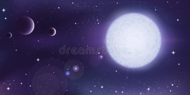 Paesaggio dello spazio cosmico illustrazione di stock