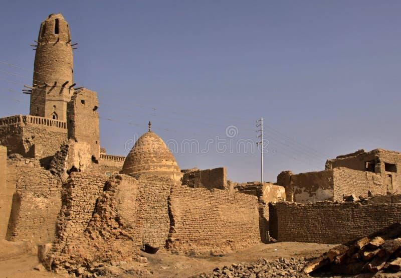 Paesaggio di Al-Qasr in Dakhla nell'Egitto fotografia stock