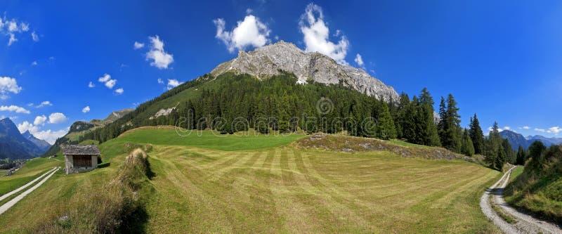 Paesaggio di Alpin in Splugen, Svizzera immagini stock libere da diritti