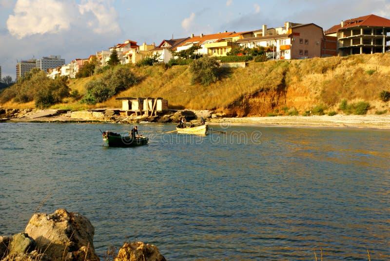Paesaggio di autunno al Mar Nero, Romania immagini stock