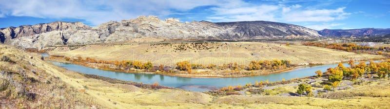Paesaggio di autunno del monumento nazionale del dinosauro, Utah, U.S.A. fotografia stock