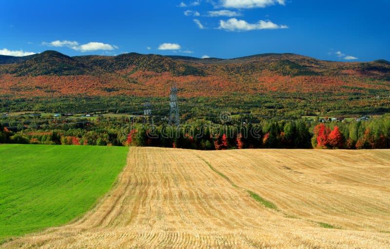 Paesaggio di autunno del paese fotografia stock libera da diritti