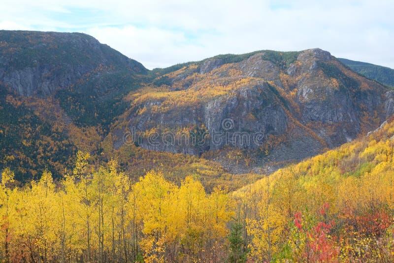 Paesaggio di autunno di Charlevoix immagini stock libere da diritti