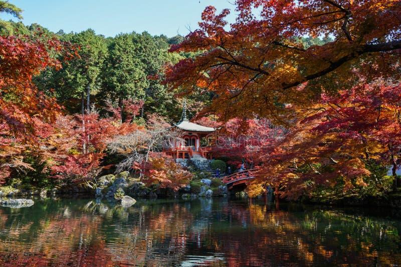 Paesaggio di autunno di Kyoto, Giappone immagini stock libere da diritti
