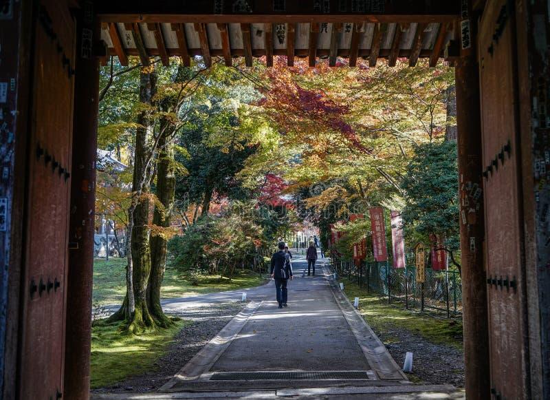 Paesaggio di autunno di Kyoto, Giappone fotografie stock libere da diritti