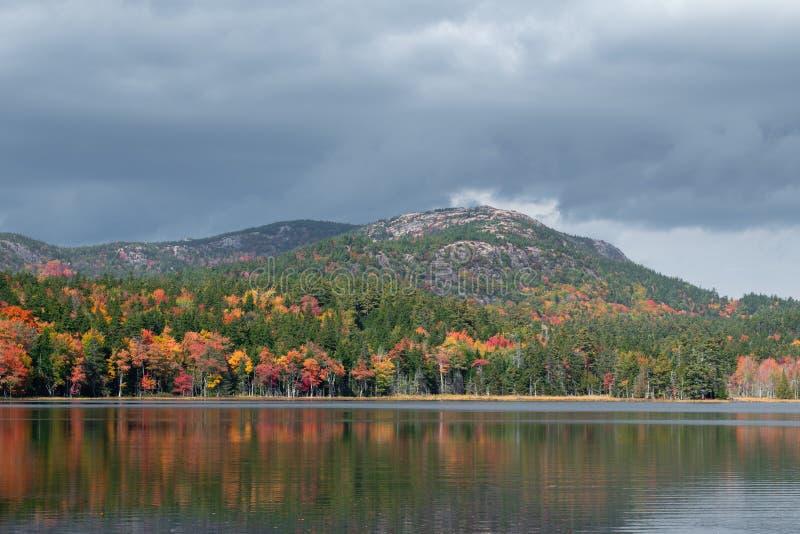 Paesaggio di autunno in Maine fotografia stock