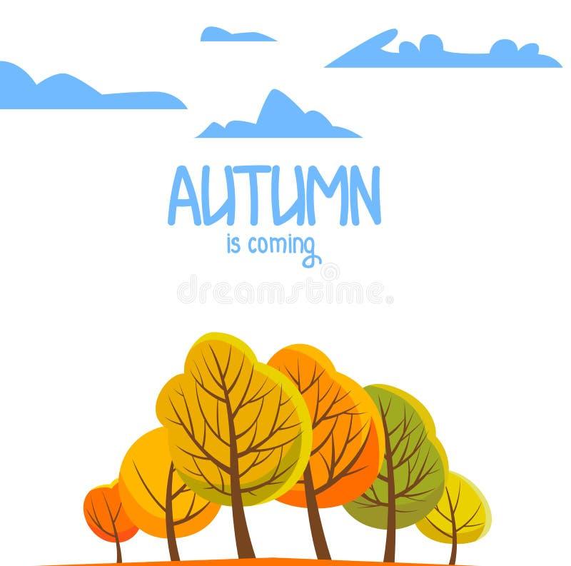 Paesaggio di autunno per il vostro opuscolo Illustrazione di vettore immagini stock