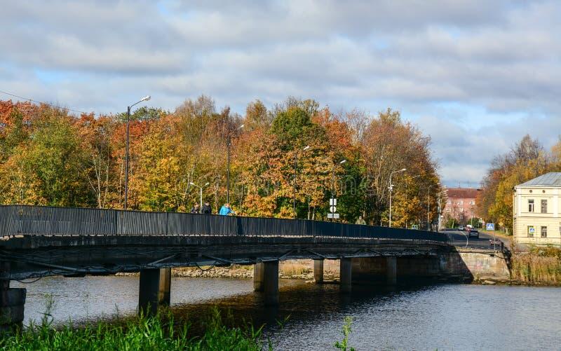 Paesaggio di autunno in Vyborg, Russia immagini stock libere da diritti