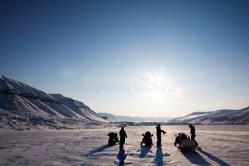 Paesaggio di avventura di inverno fotografie stock