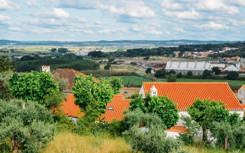 Paesaggio di Constancia Santarem, Ribatejo, Portogallo fotografia stock
