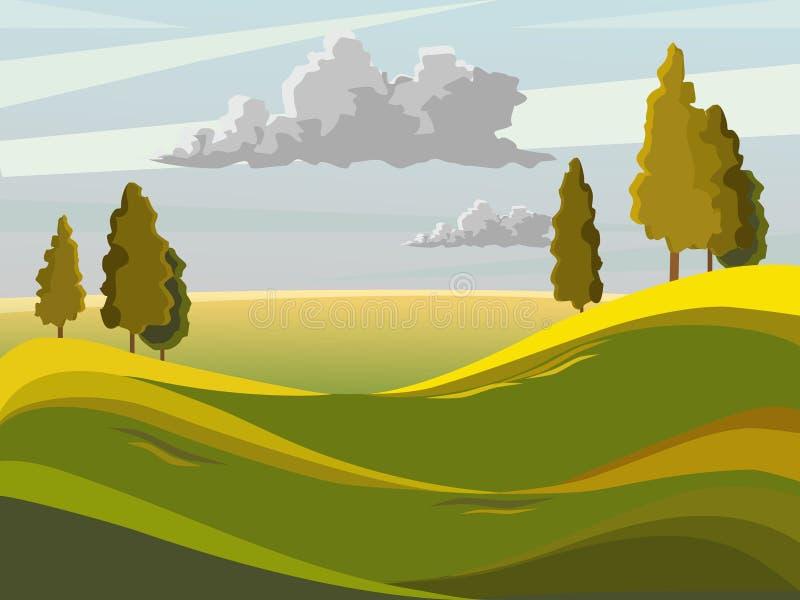 Paesaggio di ESTATE illustrazione vettoriale