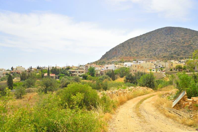 Paesaggio di estate in Creta immagini stock