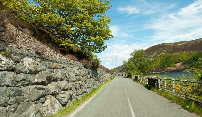 Paesaggio di estate nella valle di slancio di Powys, Galles immagine stock libera da diritti