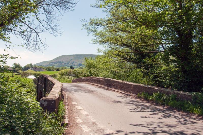 Paesaggio di estate nelle montagne nere della campagna inglese fotografie stock