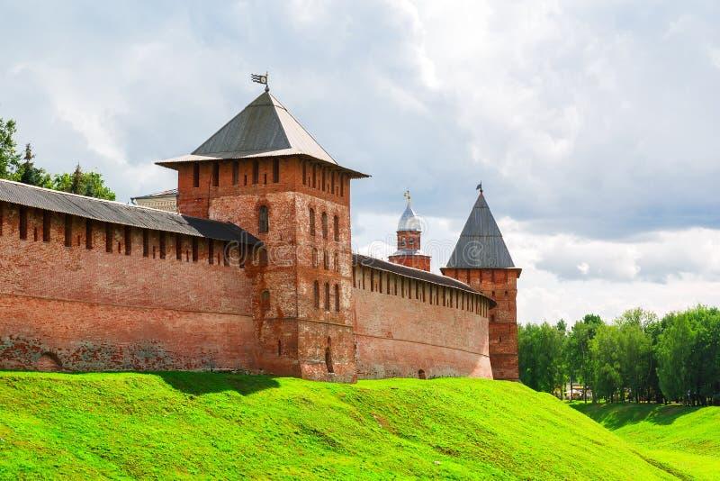 Paesaggio di estate di Novgorod le grande fotografia stock libera da diritti