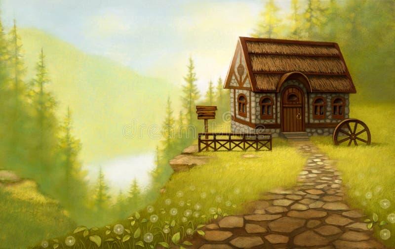 Paesaggio di fantasia. Fiaba royalty illustrazione gratis