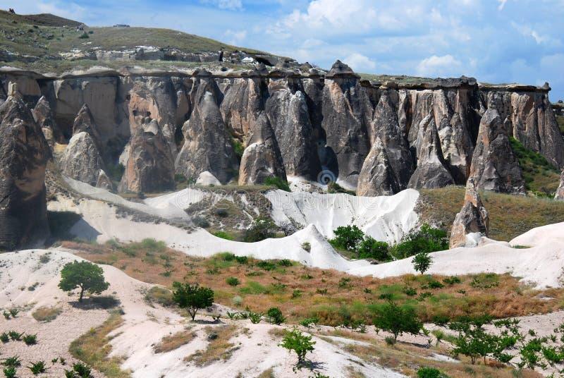 Paesaggio di geologia in Capadocia fotografia stock libera da diritti