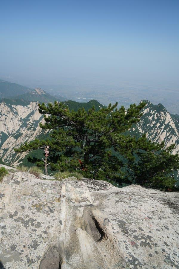 Paesaggio di Huashan della montagna immagini stock libere da diritti