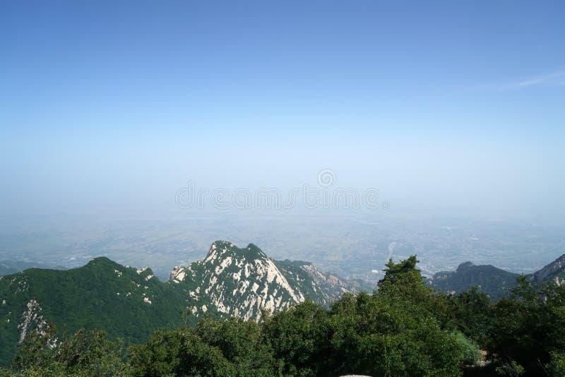 Paesaggio di Huashan della montagna immagine stock