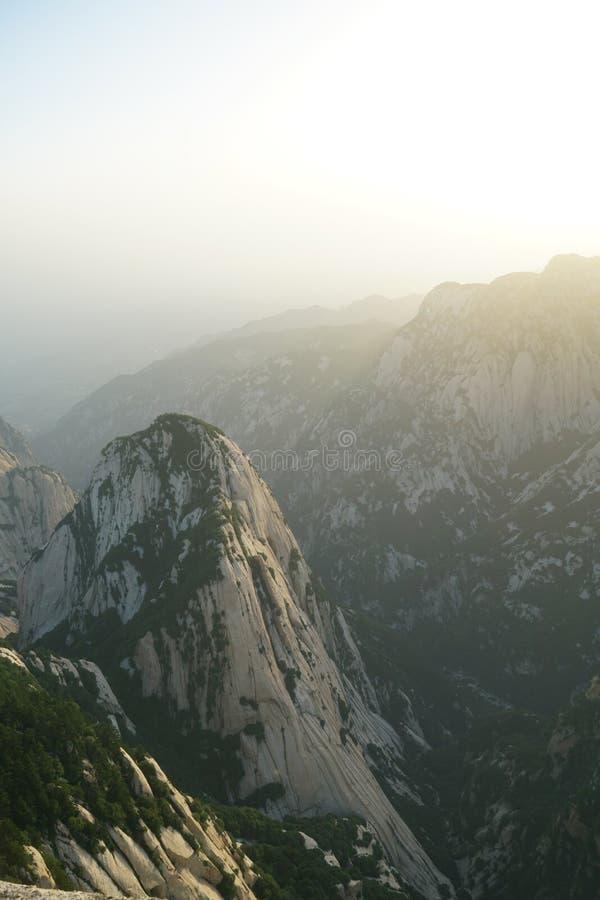 Paesaggio di Huashan della montagna fotografia stock libera da diritti