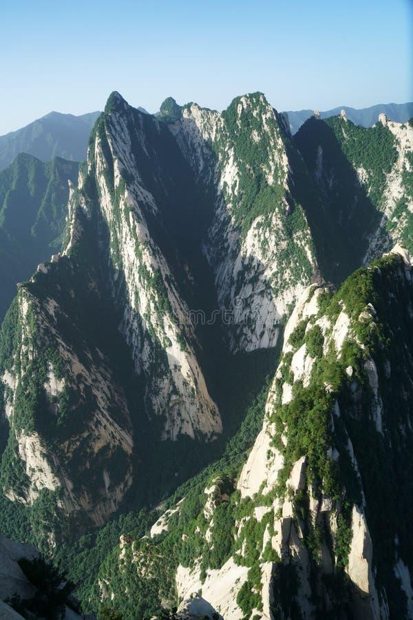 Paesaggio di Huashan della montagna immagini stock