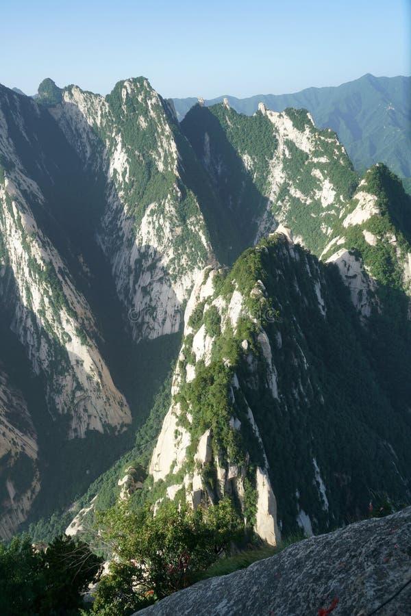 Paesaggio di Huashan della montagna immagine stock libera da diritti