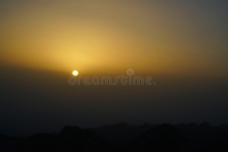 Paesaggio di Huashan della montagna fotografia stock