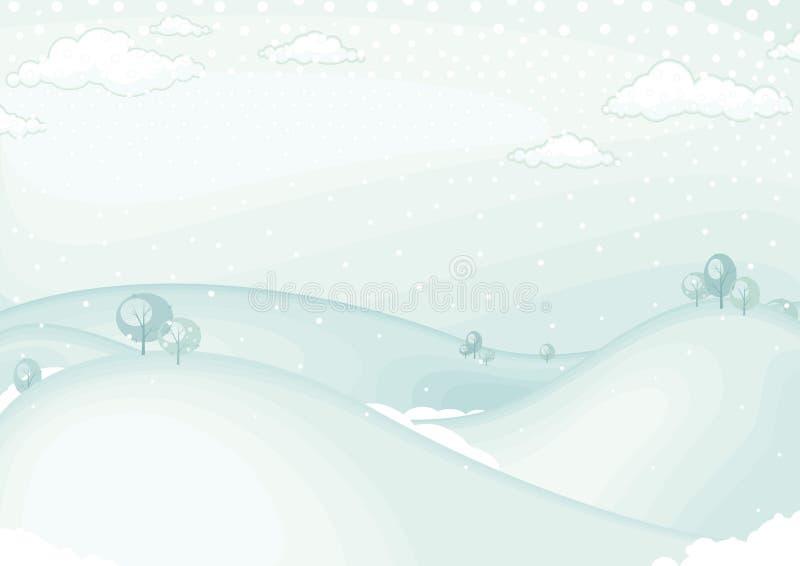Paesaggio di inverno royalty illustrazione gratis
