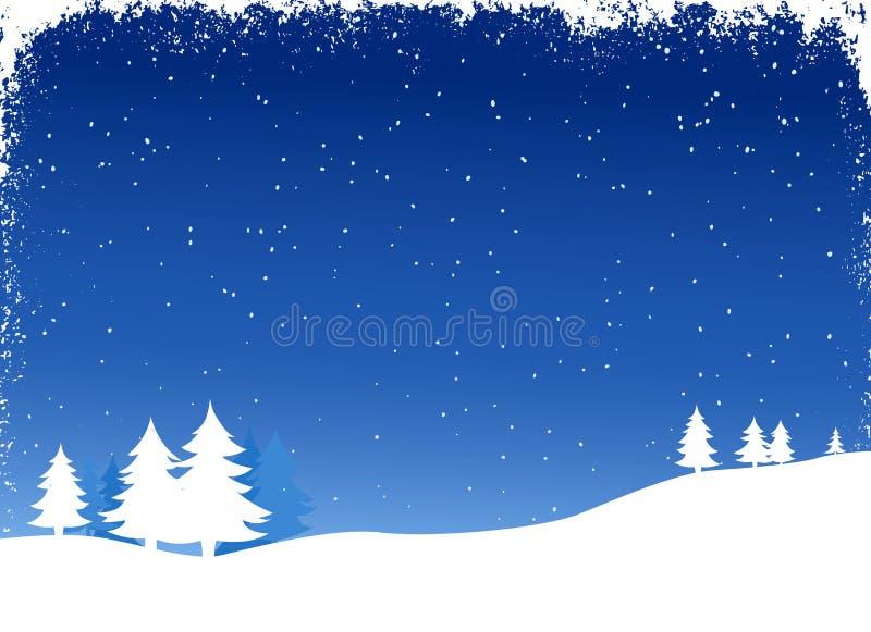 Paesaggio di inverno illustrazione di stock