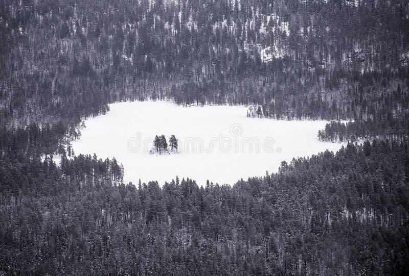 Download Paesaggio di inverno immagine stock. Immagine di ghiaccio - 56892103