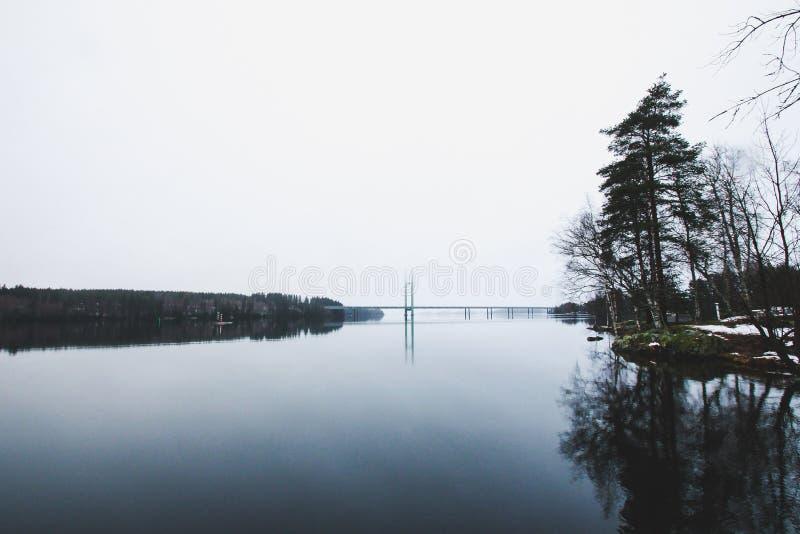 Paesaggio di inverno di bello Heinola, Finlandia immagini stock libere da diritti