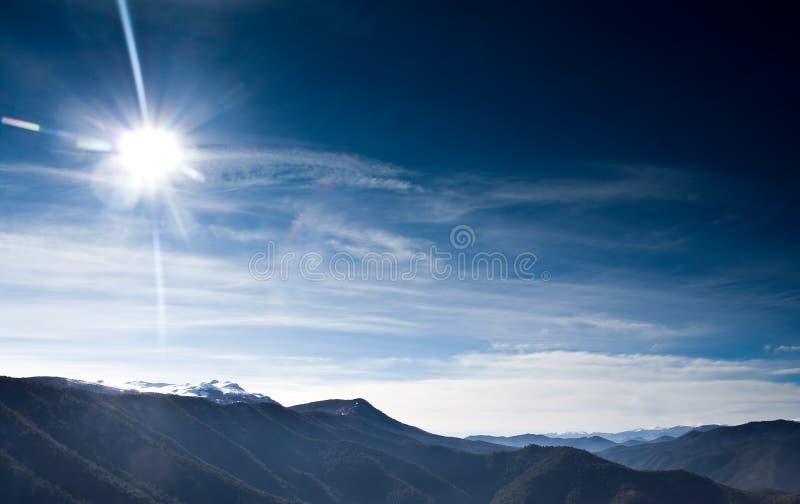 Paesaggio di inverno dalla Macedonia fotografie stock